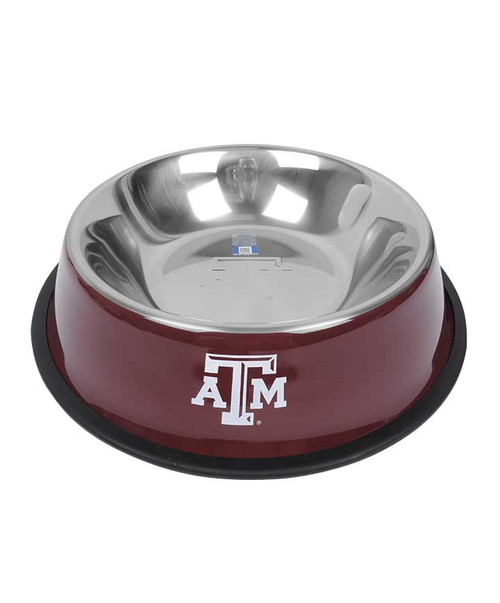 Texas A&M Aggies Maroon Stainless Steel Pet Bowl