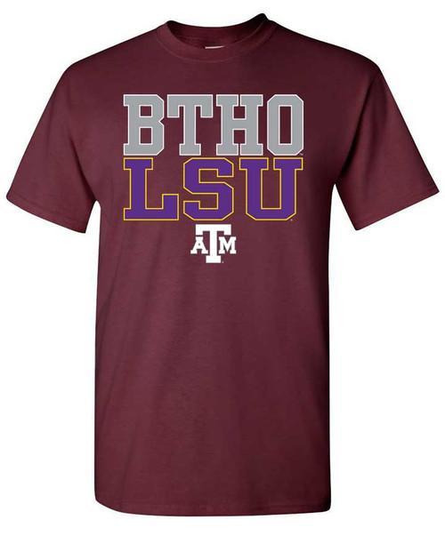 Texas A&M Aggies Maroon BTHO LSU Short Sleeve T-Shirt