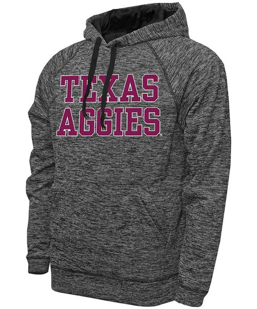 Texas Aggies Stack Black Heather Hood