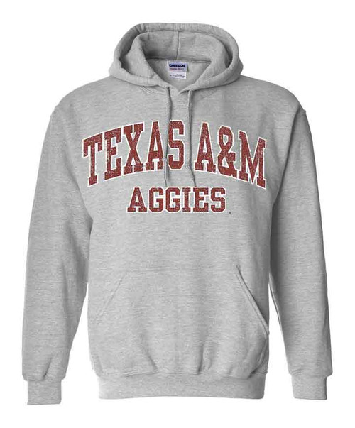 Arch Texas A&M Aggies  Grey Hoodie