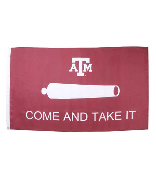 Maroon Come & Take It 3x5 House Flag