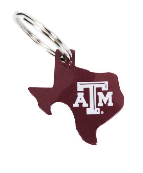 Maroon Texas A&M Pop O Top Key Ring Bottle Opener