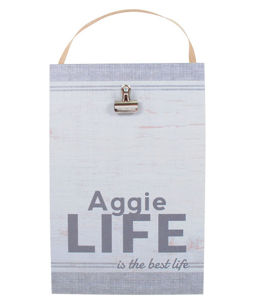 Maroon Aggie Life Is Best Life Sign