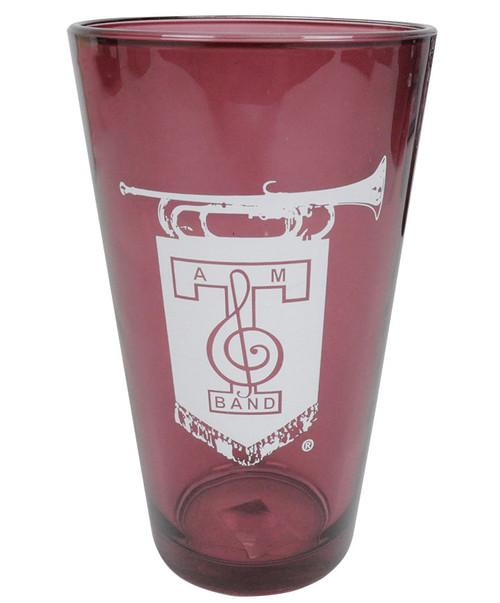 Texas A&M Aggie Band Maroon Pint Glass