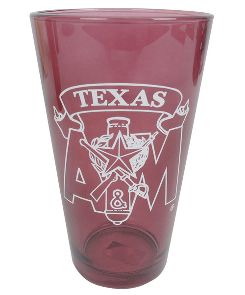 Texas A&M Aggies Corps Of Cadets Maroon Pint Glass