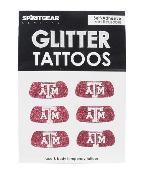 Texas A&M Glitter Eyeblacks 3Pack