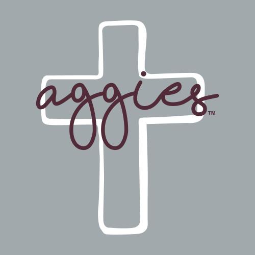 Texas A&M Aggies 4.35 x 5 Cross Decal   Maroon & White