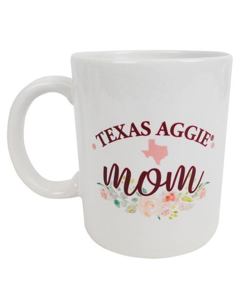 Texas Aggie Mom Floral Coffee Mug