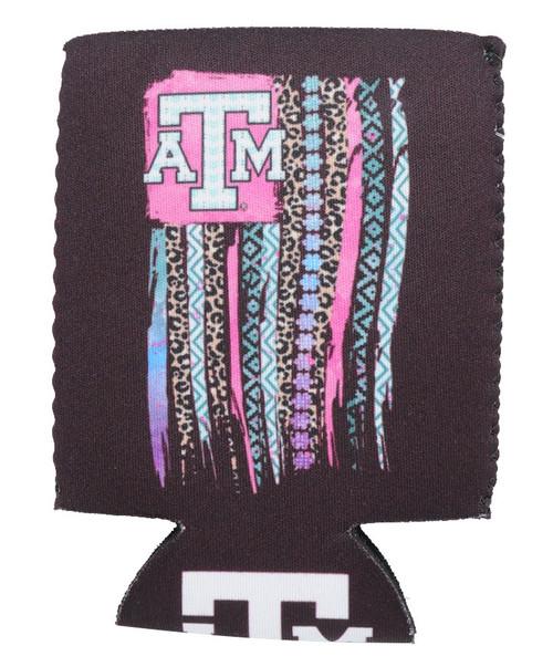 Texas A&M Aggies Leopard Flag Koozie