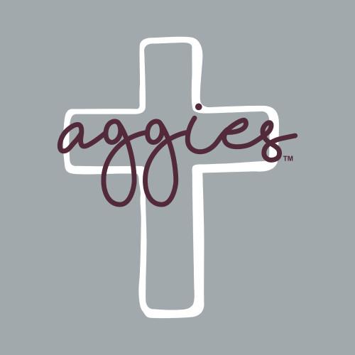 Texas A&M Aggies 2.5 x 3 Cross Decal | Maroon & White