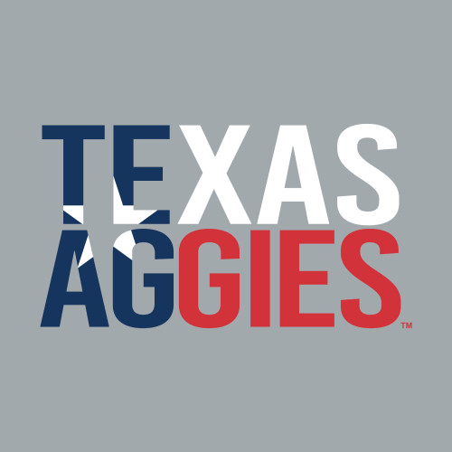 Texas Aggies 5.75 x 3.25 Stacked Decal   Red, White & Blue