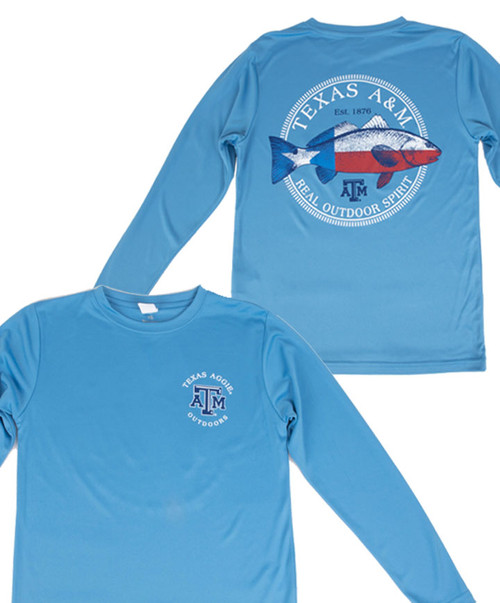 Texas A&M Youth Aggie Outdoors Real Outdoor Spirit Long Sleeve Active Shirt