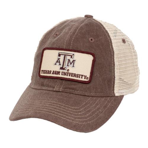 Texas A&M Aggies Maroon/Khaki ATM Patch Mesh Back Cap