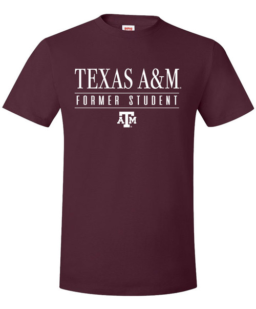 Texas A&M Aggies Former Student Short Sleeve T-Shirt - Maroon