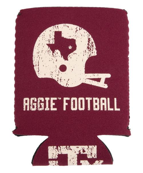 Texxas A&M Aggies Football Vintage Helmet Koozie - Maroon