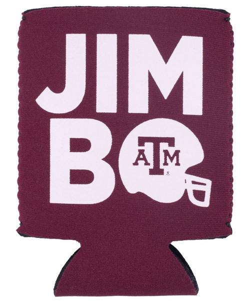 Texas A&M Aggies Logo Jimbo Football Helmet Koozie - Maroon