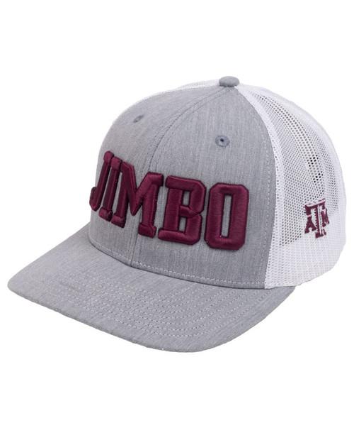Texas A&M Aggies Jimbo Fisher Football Cap | Grey & White