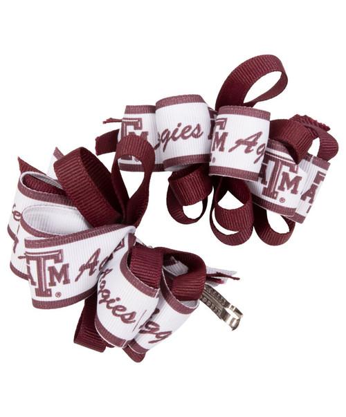 Texas A&M Aggies Toddler Logo Bow Pair
