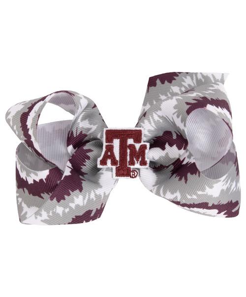 Texas A&M Medium Tie Dye Bow