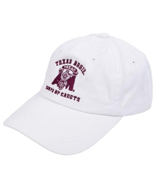Texas A&M Aggies Corps Of Cadets Logo Cap   White