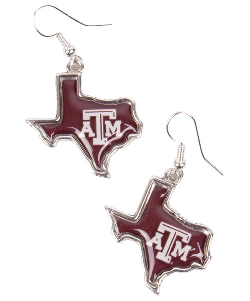 Texas A&M Aggies State of Mine Earrings