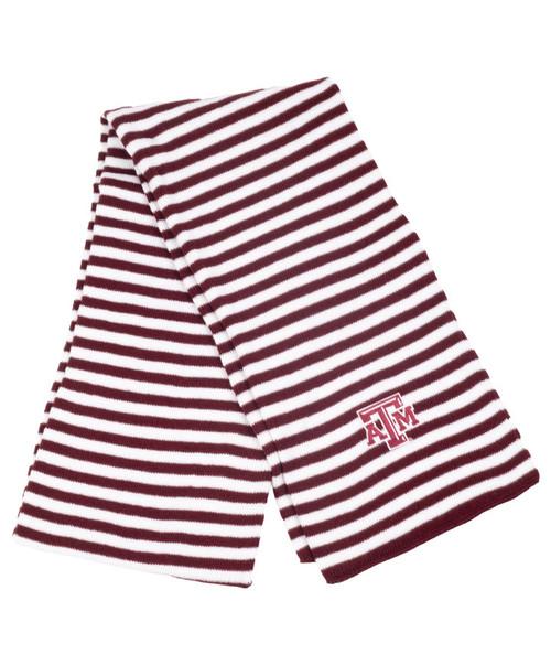 Texas A&M Aggies Micro-Stripe Knit Scarf - Maroon & White