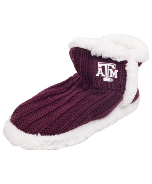 Texas A&M Aggies Logo Rib Knit Slipper Socks - Maroon