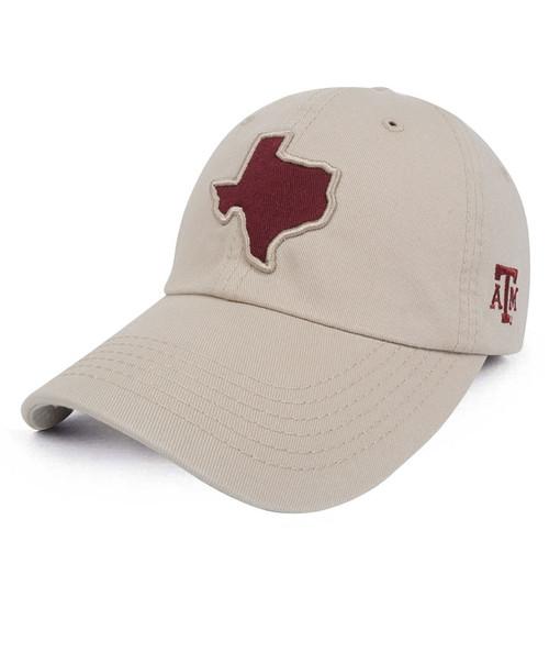 Lonestar Applique Twill Khaki Cap | Headwear