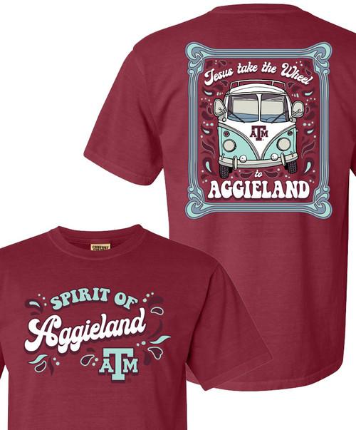 Texas A&M Aggies Jesus Take The Wheel Comfort Colors Short Sleeve T-Shirt