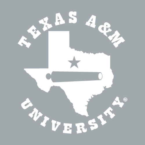 Texas A&M University 5 x 4.5 Lonestar Cannon Decal   White