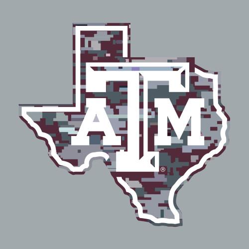 Texas A&M Aggies 5.25 x 5 Lonestar Digital Camo Decal