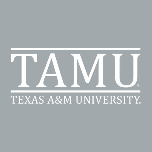 6.5 x 2.75 Texas A&M University Decal   White