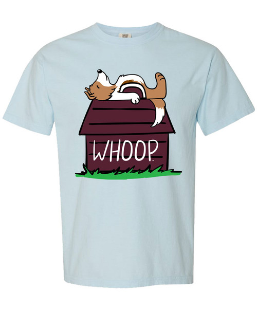 Texas A&M Aggies Reveille Whoop Barn Comfort Colors Short Sleeve Tee | Chambray