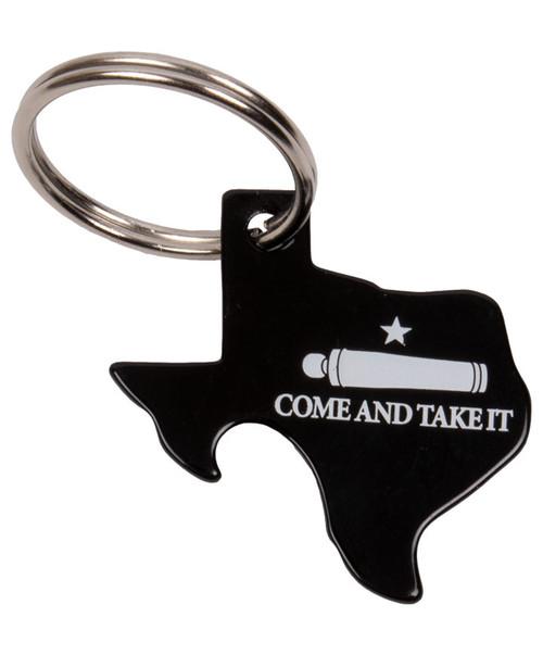 Come & take It Pop O Top Key Ring | Black