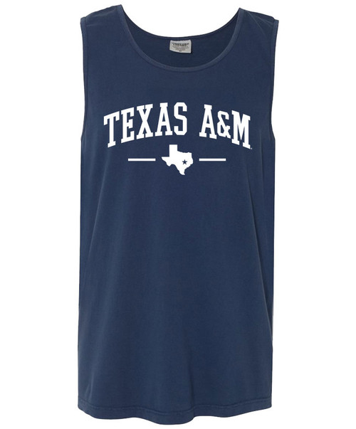 Texas A&M Arch Over Lonestar Comfort Colors Tank Top | Navy