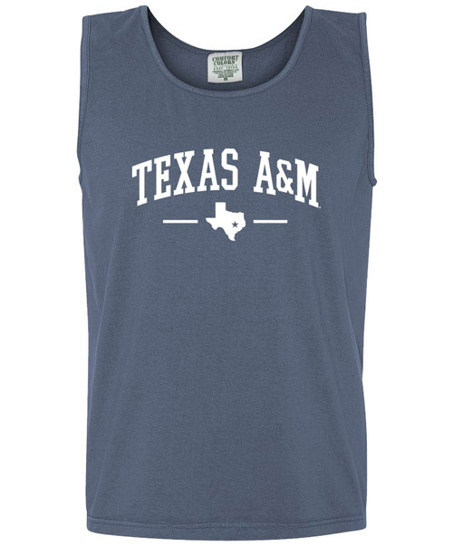 Texas A&M Arch Over Lonestar Comfort Colors Tank Top | Blue Jean