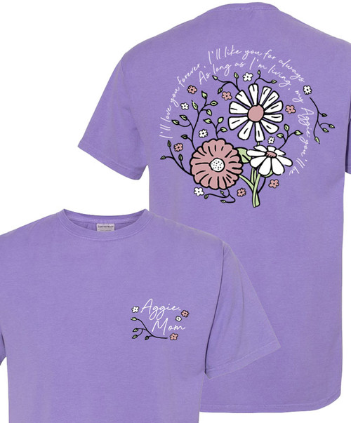 Texas A&M Aggie Mom I'll Love You Forever Short Sleeve T-Shirt | Lavender