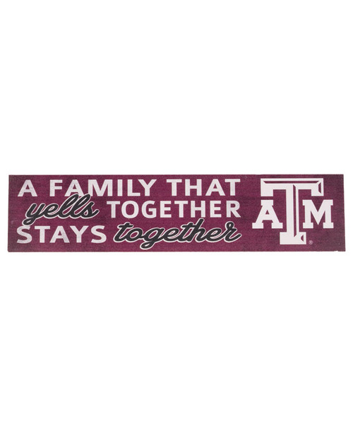 Texas A&M Aggies 3x13 Family That Cheers Sign