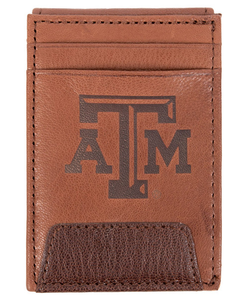 Texas A&M Aggies Leather Front Pocket Wallet