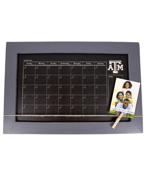 Texas A&M Aggies Monthy Chalkboard With Frame & Clothespins