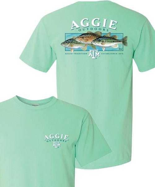 Texas A&M Aggie Outdoor 3 Bass Comfort Colors Short Sleeve T-Shirt | Island Reef