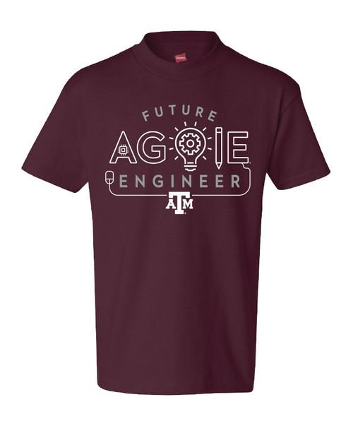 Texas A&M Aggie Youth Future Aggie Engineer Short Sleeve T-Shirt | Maroon
