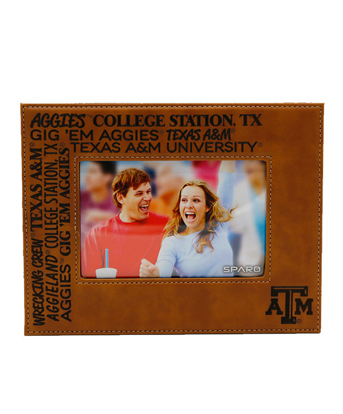 Texas A&M Aggies Laser Engraved Brown Picture Frame