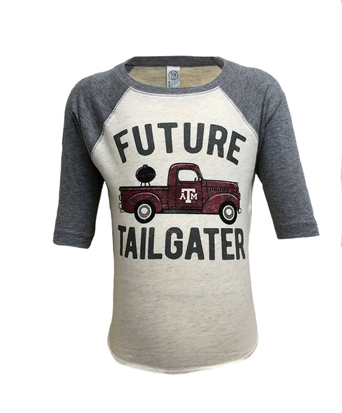 Texas A&M Aggies Toddler Future Tailgater 3/4 Sleeve T-Shirt   Granite Heather