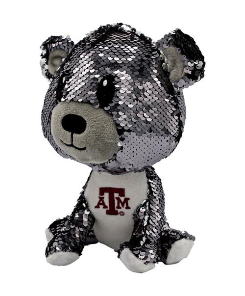 "Texas A&M Aggies 9"" Sequin Teddy Bear"