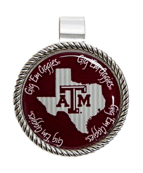 Texas A&M Aggies Striped State Visor Clip