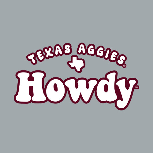 Texas A&M Aggies 6 x 3.25 Howdy Pinks Decal | Maroon