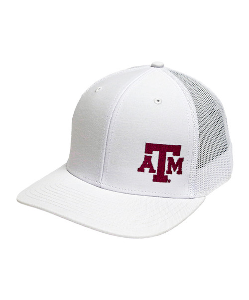 Texas A&M Aggies Richardson White Mesh Back Trucker Cap