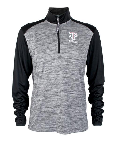 Texas A&M Aggies 1/4 Zip Grey & Black Jacket