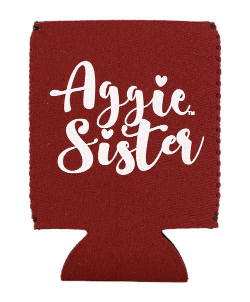 Texas A&M Aggie Sister Koozie   Maroon